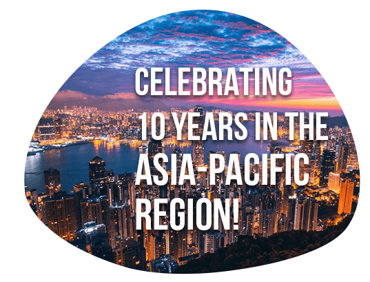 Celebrating 10 years in the Asia-Pacific region