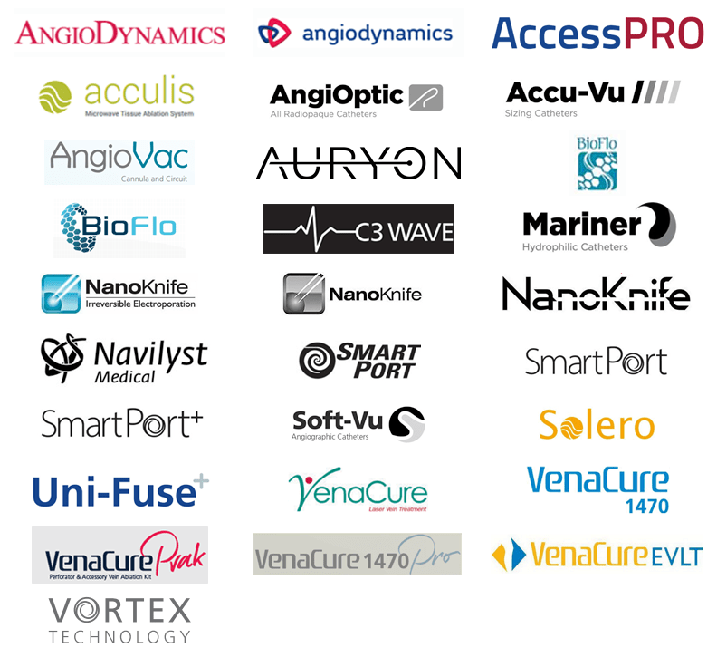 AngioDynamics trademark logos